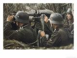 German Machine-Gun Crew Ready and Waiting Premium Giclée-tryk af Unsere Wehrmacht