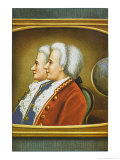 Jacques-Etienne and Joseph- Michel Montgolfier French Aviation Pioneers Giclee Print by L.n. Van Blarenberghe