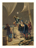 Columbus Sights Land from the Prow of the Pinta Giclee Print