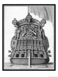 The Stern of a British Warship Showing the British Coat of Arms Giclee Print by Charles Tomkins