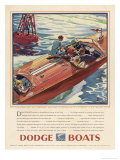 Advertisement for Dodge Boats Reproduction procédé giclée par Ellis Wilson