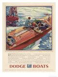 Advertisement for Dodge Boats Reproduction procédé giclée par Ellis Wilson