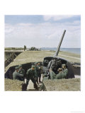 German Anti-Aircraft Battery Giclee Print by Unsere Wehrmacht