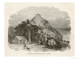 Pitcairn Island: The Church and School-House Giclee Print by J.w. Whimper