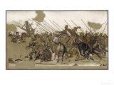 Alexander V at Issus Giclée-Druck von Franz Winter