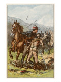 Commandant d'Arcy of Frontier Light Horse Wins a Victoria Cross for His Bravery Giclee Print