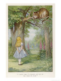 Cheshire Cat Reproduction procédé giclée par John Tenniel