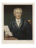 Johann Wolfgang Von Goethe German Writer and Scientist Giclee Print by J. Stieler