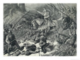The Mercians Attack the Welsh Giclee Print by Edouard Zier