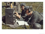 German Army with Field Radio in Operation Giclee Print by Unsere Wehrmacht