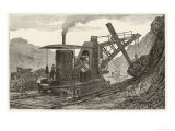Steam Navvy Excavation Machine Used in Making a New Dock in Swansea Giclee Print