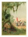 Columbus Lands at Guanahani (Bahamas) Also Known as Watling Island or San Salvador Giclee Print