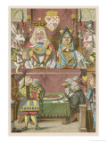 The Trial of the Knave Giclee Print by John Tenniel