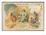 Daniel Defoe Writer with Scenes from Robinson Crusoe Giclee Print