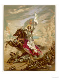 Joan of Arc an Idealised Representation, She Fulfils Merlin's Prophecy That a Virgin Will Come Premium Giclee Print