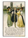 Minister Assailed by Suffragettes Outside the House of Commons Giclee Print