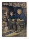 Pip and Joe Gargery Giclee Print by Jessie Willcox-Smith