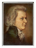 Wolfgang Amadeus Mozart the Austrian Composer in Later Life Giclee Print by H. Torggler