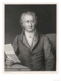 Johann Wolfgang Von Goethe German Writer and Scientist Reproduction procédé giclée