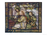 One Angel Helps Saint Cecilia Play the Organ While Another Holds a Lyre Giclee Print