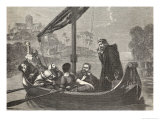 Canute Listens to the Chanting of the Monks of Ely Giclee Print by F. Wentworth