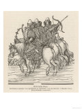 Muscovite Warriors on Horseback Giclee Print