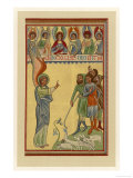 An Angel Tells the Shepherds That Jesus Has Been Born Giclee Print