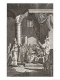 Becket Argues with Henry II Giclee Print by Samuel Wale