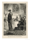 Mr. Harthouse Dines at the Bounderbys Giclee Print by Frederick Walker