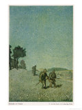 German Night Patrol Before Verdun Giclee Print by O. Van Hout