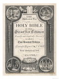 Bible Frontispiece Showing Various Scenes from the Bible Gicle-tryk