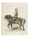 Mounted Warrior Giclee Print by L. Valet