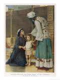 Hannah Wife of Elkanah Takes Her Young Son Samuel to the Temple at Shiloh Giclee Print by Frank W.w. Topham