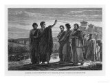 Aristotle Leaving Athens with His Followers Having Been Wrongly Accused of Impiety Giclée-Druck von Jan Verhas