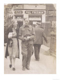 British Soldier on Leave Arm in Arm with His Sweetheart Giclee Print