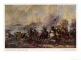 General Battle Scene: a Cavalry Skirmish Giclee Print by Philips Wouvermann