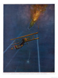 Lieutenant William Robinson is the First to Bring Down a Zeppelin Over England Giclee Print