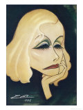Greta Garbo Swedish-American Film Actress: a Caricature Giclee Print by Nino Za
