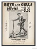 Speed-King, All-Steel Scooter Offered for Only $1.29 to Any Boy or Girl Giclee Print