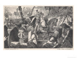 The Romans Under the Command of General Drusus Invade Germany Giclée-Druck von Hermann Vogel