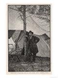 Ulysses S Grant American Civil War General at Headquarters During the Virginia Campaign Reproduction procédé giclée par H. Vetten