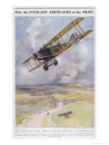 An Allied Aeroplane Carries a Motorcycle on Its Wing Giclee Print by C.e. Turner