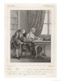 Vittorio Alfieri Italian Author Instructing His Servant to Tie Him to His Writing Chair Giclee Print by Felice Zuliani