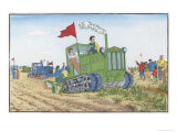 Female Tractor Driver Giclee Print by Ting Yu