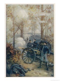 The Battle of Shiloh, Between Union Forces Under Grant and Confederate Forces Under Johnston Giclee Print by Paul Wilhelmi