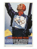 1936 Berlin Winter Olympics Reproduction procédé giclée