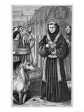 Saint Antonio di Padova to Convince a Heretic Commands a Mule to Adore the Sacrament Giclee Print