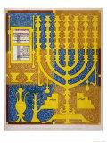 Jewish Candlestick Giclee Print