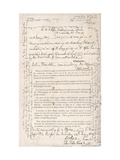 Document Transcribed by Sir John Franklin Stating That H.M.S Erebus and Terror Wintered in the Ice Giclee Print