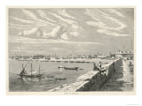 Port Scene of Tripoli Libya East Africa Which was Formerly a Phoenician Colony Giclee Print by Teterintoton 